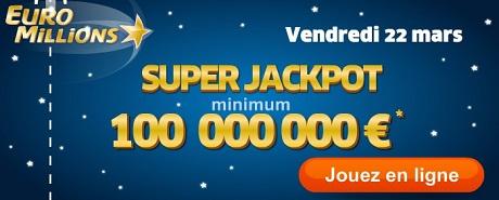 super cagnotte euromillions de 100 millions d'euros