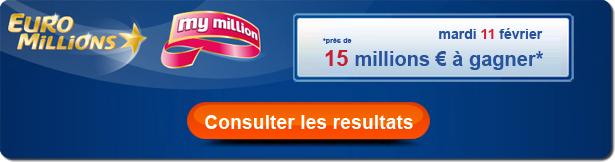 résultat euromillions du mardi 11 février 2014